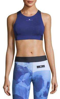 adidas by Stella McCartney Colorblocked ClimachillTM Performance Sports Bra  Stella Mccartney Adidas 8426f2a62
