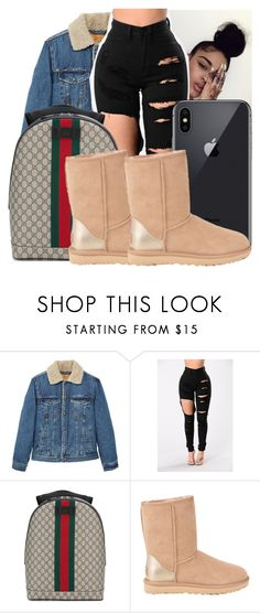 """Untitled #130"" by lulqueenwaveyjr ❤ liked on Polyvore featuring MANGO MAN, Gucci and UGG"
