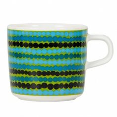 In Good Company Siirtolapuutarha coffee cup - Marimekko Marimekko, Rainbow Kitchen, Modern Scandinavian Interior, Cool Mugs, Fun Cup, Modern Ceramics, Vintage Pottery, Vintage Design, Decoration Table