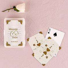 Unique  Classic Metallic Gold Playing Cards in Plastic Case