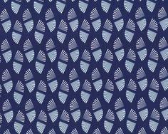 Glatter kühler Baumwolljersey MARISCO, Strahlenfächer, dunkelblau-weiß