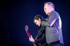 Charlie Burchill and Jim Kerr of Simple Minds perform live at Mediolanum Forum in Assago