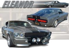 Ford Shelby Mustang GT500 Eleanor Paper Car Free Vehicle Paper Model Download