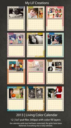 5x7 desk Calendar by My Lil' Creations