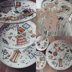 Een heel persoonlijk kado voor Sarah #diy #porseleinstift #koenko.blogspot.com