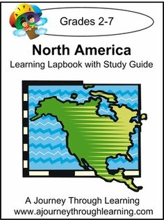 North America Lapbook with Study Guide. Topics in our North America lapbook include: Geography and Climate, Different Regions, Government, People, Major Ethic Groups, Language, Religion, Animals, Holidays and Traditions, Foods,Crafts, and more. #homeschool #lapbooks