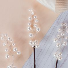 Set Of Three Pearl Spray Bridal Pins by Melissa Morgan Designs, the perfect gift for Explore more unique gifts in our curated marketplace. Wedding Hair Pins, Wedding Headband, Bridal Headdress, Pearl Hair Pins, Hair Slide, Fall Jewelry, Swarovski Pearls, Sprays, Bridal Accessories