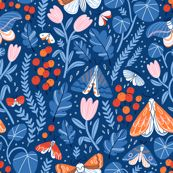 Night garden moths custom wallpaper by stolenpencil for sale on Spoonflower Perfect Wallpaper, Wallpaper Roll, Tiger Moth, Night Garden, Design 24, Custom Wallpaper, Pattern Illustration, Textured Walls, Custom Fabric