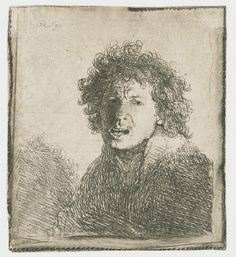 Self-portrait open mouthed - 1630 - Rembrandt - WikiArt.org