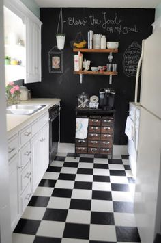 25 Absolutely Charming Black Kitchen. Messagenote.com Living Small- Our Kitchen