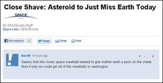 The time he managed to get meatballs, asteroids, and politics into the same comment:
