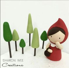 Little Red Riding Hood topper - Sharon Wee Creations