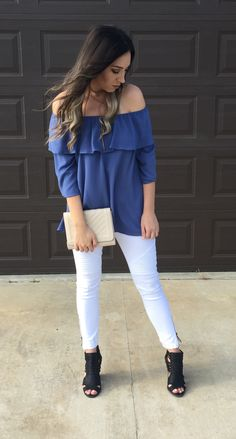 Marlie Top (Indigo) $28.50 Free Shipping or local pickup  Only 2 Large left!