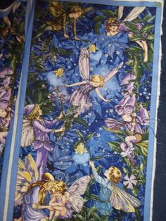 Night Nite Fairy Panel from Michael Miller Fabrics  fairies 1 panel licensed print cotton quilt fabric