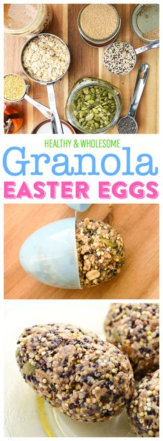 Healthy Granola Easter Eggs | Homemade Granola | Healthy Easter Treats for Kids | Easter Egg Molds