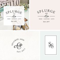 Custom logo design is our focus and absolute favorite thing to do. Logo suite for a boutique in Canada.