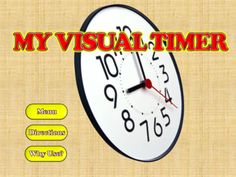 "My Visual Timer for iPad ($1.99) ""My Visual Timer"" comes with 12 different visual timers. There are no complicated settings, easy to use, reduced distractions, and a gentle sounding ding when time is up. Visual Supports are recognized as Evidence-Based Practices for educating children with Autism. Perfect for students who struggle with concept of time, and transitioning between activities. Gives a real feeling of time, when the typical analog or digital clock isn't appropriate."