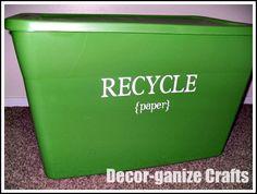 DIY Recycling Bin
