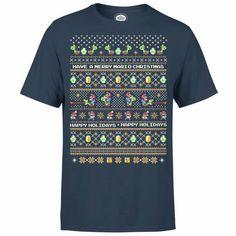 Buy Nintendo Yoshi Have A Merry Mario Christmas Navy T-Shirt today at IWOOT. Nintendo Characters, Christmas Jumpers, Donkey Kong, Yoshi, Super Mario, Sweatshirts, Dancing, Mens Tops, T Shirt