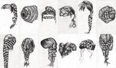Braid Study (Ongoing) - Lauren Munns Art