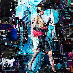 Slippery Catwalk, picture from the series Collage Couture by Derek Gores, artist of category CONTEMPORARY ART at photo art editions LUMAS Collage Portrait, Collage Artwork, Portraits, Wall Paintings, Recycled Magazines, Recycled Art, Derek Gores, Newspaper Art, Learn Art