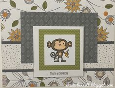 Sheila's Stamping Stuff: Share A Smile with Punny Pals   #ctmh #cardmaking #monkey