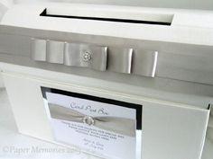 Personalised Diamante & Pearl Wedding Card Post Box (Ivory) Paper Memories http://www.amazon.co.uk/dp/B00E1MWX6C/ref=cm_sw_r_pi_dp_NnE2vb050CCKG