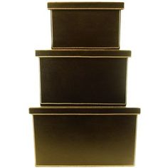 Black Fabric & Leather Box Set with Lids | Shop Hobby Lobby