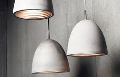 Inspire your space with the Concrete Pendant Light - award winning Australian lighting design that is crafted from actual hand caste concrete. Industrial Pendant Lights, Pendant Lamp, Pendant Lighting Over Dining Table, Ceiling Pendant, Modern Industrial, Pendant Necklace, Modern Lighting, Lighting Design, Interior Lighting