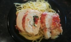 Ninja® Cooking System Recipes - Stuffed Chicken with Mozzarella, Roasted Red Peppers and Spinach - Ninja® Cooking System Recipes