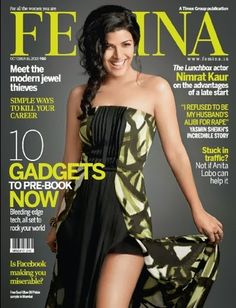 Nimrat Kaur on The Cover of Femina Magazine - October 2013.