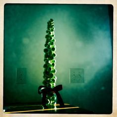Brussels sprout Christmas tree...now I think I've seen it all!