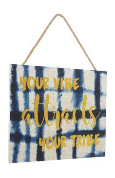 Primark - Tribe Slogan Plaque
