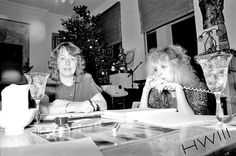 a Merry Christmas photo of someone and Stevie ~ ☆♥❤♥☆ ~ who typically is talking on the phone ❤🎄❤ photo taken by Herbert W. Worthington 111 at somebody's home; if anyone knows where this was, pleez let me know
