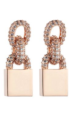 Eddie Borgo Short Pave Chain Small Padlock Earring Holiday 2012