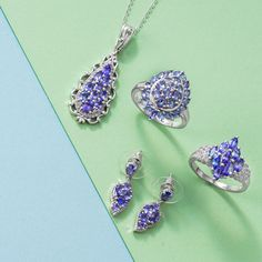 Tanzanite Jewelry, Diamond Earrings, Drop Earrings, Shopping, Beautiful, Drop Earring, Diamond Drop Earrings