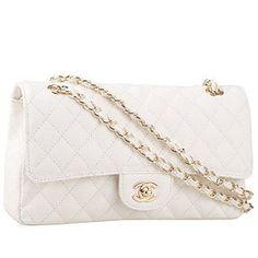 01114ad95 Bolsa Chanel - Double Flap Branca Couro - www.modagrife.com - R$850,00