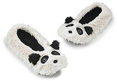 Fuzzy Babba® Furry Ivory Critter Panda Slippers on shopstyle.com