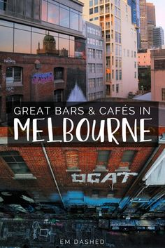 Finding a spot to grab a drink or a coffee in Melbourne is like finding hay in a haystack -- but that can also make choosing a place rather overwhelming. Click through for my suggestions for great bars and cafés in Melbourne, Australia, after spending seven months living and working in the city. | #Melbourne #Victoria #Australia