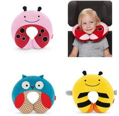 baby Neck protection Stroller Car Seat U-shaped travel pillow car seat cushion Animal Print Cartoon Style Car Seat neck care