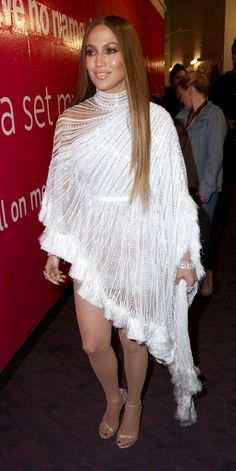 All of Jennifer Lopez's Sizzling Looks from the 17th Annual Latin Grammy Awards - Angelic Fringe from InStyle.com