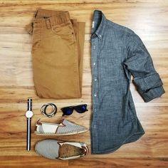 Men's outfit grid