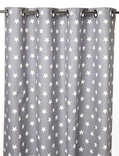 Rideau tamisant illets 100 coton motif toile bicolore for Rideau chambre d enfant