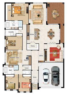 Chiswick Grundriss - дома - Chiswick Floor Plan The . 3d House Plans, Home Design Floor Plans, House Blueprints, Dream House Plans, Floor Plan 4 Bedroom, 4 Bedroom House Plans, Barrington Homes, House Construction Plan, Apartment Floor Plans