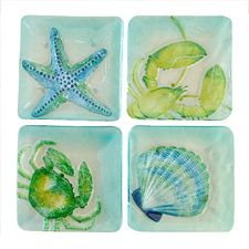Seabreeze Salad Plates @ Nautical Decor and Gifts.  They would be decorative hanging on the wall!