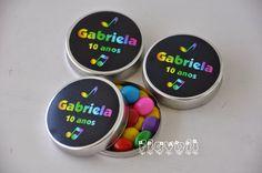 flavoli Papelaria Personalizada: Latinha com confeitos – Neon Party