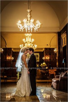 Bride and Groom at the gorgeous Royal Park Hotel in Rochester, MI. Wedding Photography with Arising Images.
