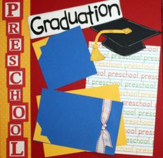 graduation scrapbooking | Preschool Graduation Premade Scrapbook Page by artsyfartsymemories www.goingtothrive.com