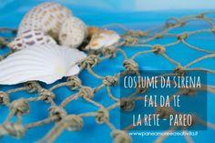 Fishing net - Mermaid costume diy Diy Costumes, Mermaid, Presto, Tutorial, Fishing, Masks, Decor, Decoration, Decorating
