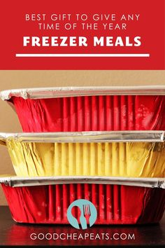 Whether it's for Christmas, a birthday, or simply becasue you want to bless someone else—having a stash of freezer meals means you are ready to give the gift of food any time of the year! Freezer Cooking, Freezer Meals, Food Meaning, Toffee Cookies, Free Meal Plans, Healthy Eating Tips, Shopping Hacks, How To Cook Chicken, Meal Planning